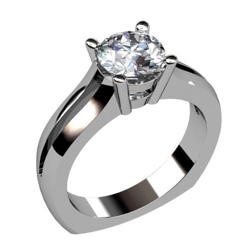 Split Shank Diamond Solitaire Ring