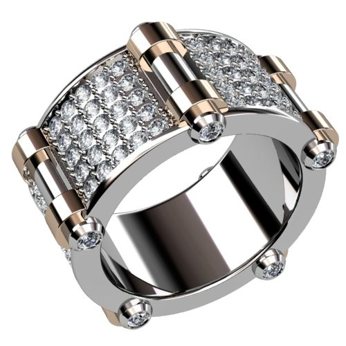 Five Point Pavé Diamond Ring