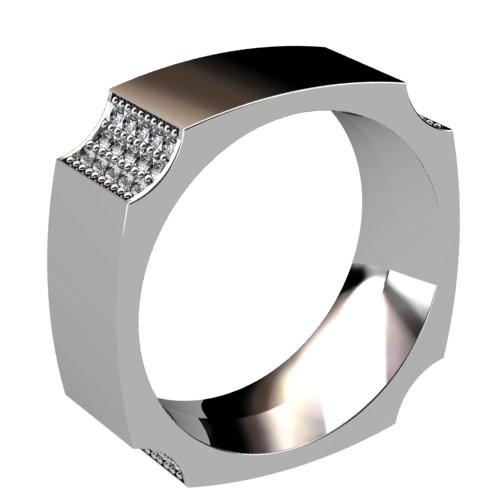 Four Corners Diamond Ring