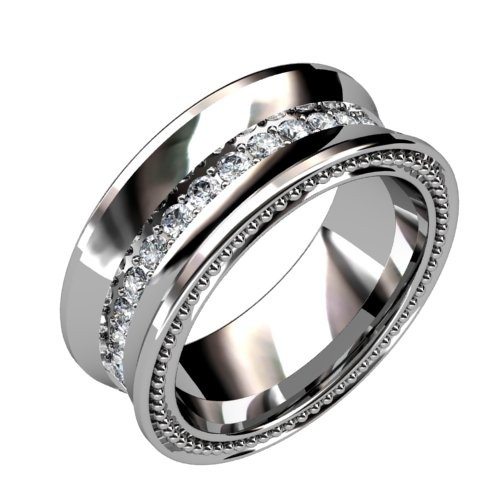 Concave Diamond Ring