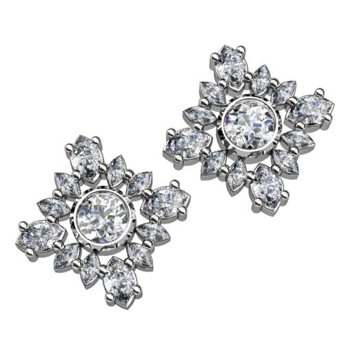 Diamond Shaped Diamond Earrings