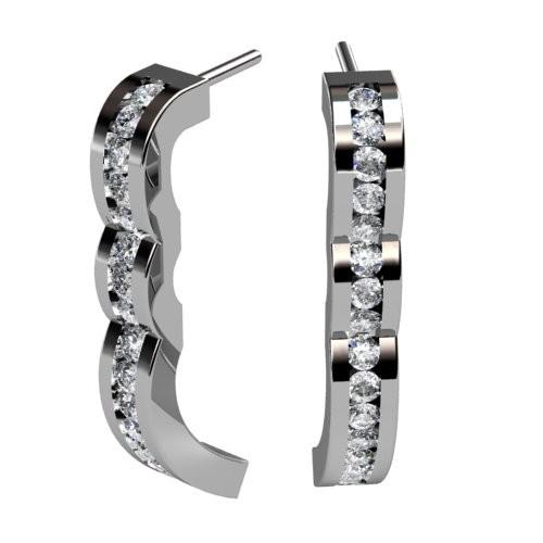 Triple Hump Diamond Earrings