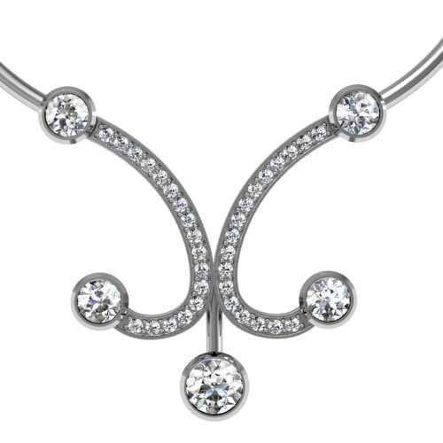 Five Stone Diamond Pendant