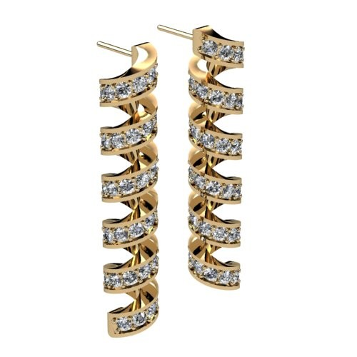 Swirly Diamond Earrings